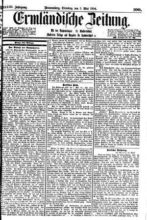 Ermländische Zeitung vom 03.05.1904