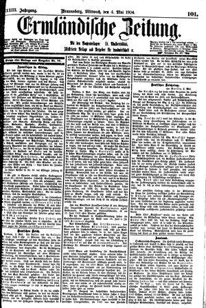 Ermländische Zeitung vom 04.05.1904