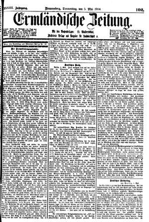 Ermländische Zeitung vom 05.05.1904