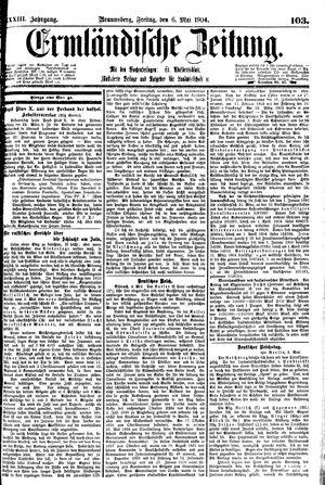 Ermländische Zeitung vom 06.05.1904