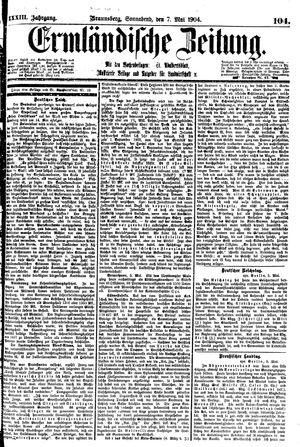 Ermländische Zeitung vom 07.05.1904