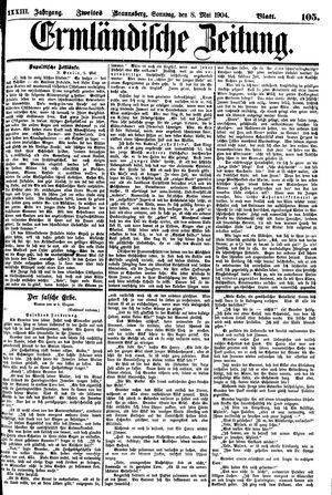 Ermländische Zeitung vom 08.05.1904