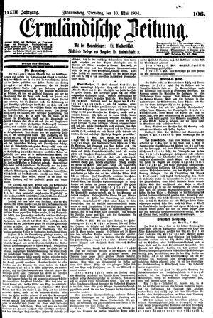 Ermländische Zeitung vom 10.05.1904