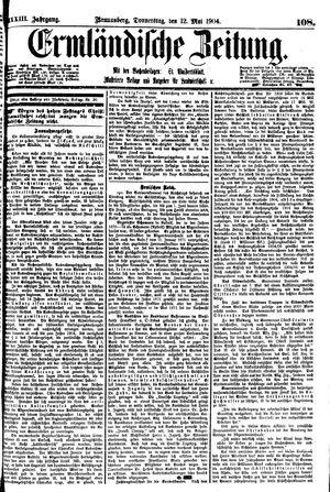 Ermländische Zeitung vom 12.05.1904