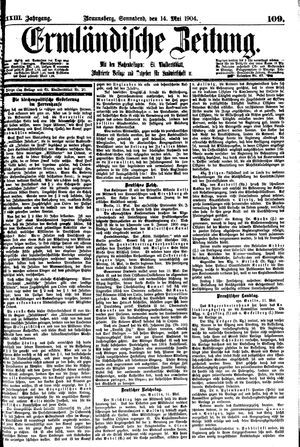 Ermländische Zeitung vom 14.05.1904