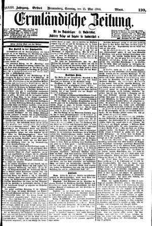 Ermländische Zeitung vom 15.05.1904