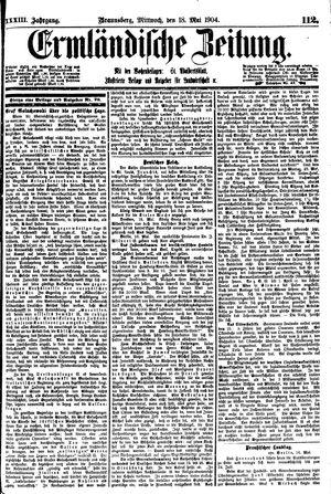 Ermländische Zeitung vom 18.05.1904