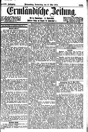 Ermländische Zeitung vom 19.05.1904