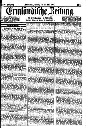 Ermländische Zeitung vom 20.05.1904