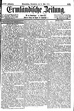 Ermländische Zeitung vom 21.05.1904