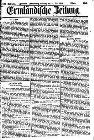 Ermländische Zeitung vom 22.05.1904
