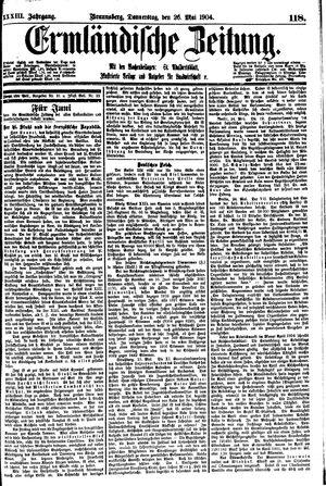 Ermländische Zeitung vom 26.05.1904