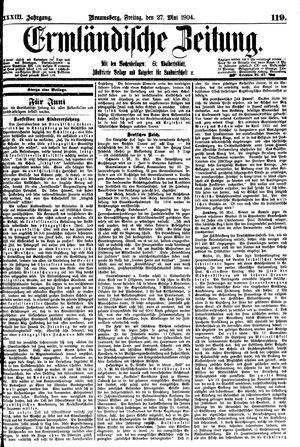 Ermländische Zeitung vom 27.05.1904
