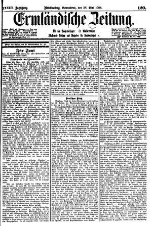 Ermländische Zeitung vom 28.05.1904