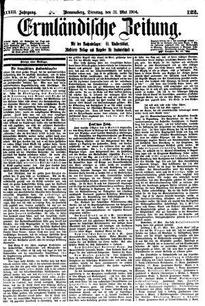 Ermländische Zeitung vom 31.05.1904