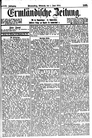 Ermländische Zeitung vom 01.06.1904