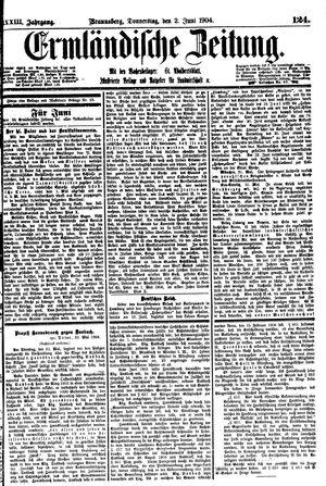 Ermländische Zeitung vom 02.06.1904