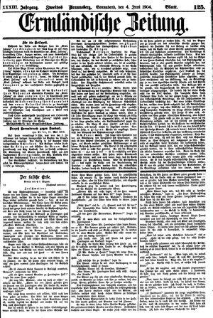 Ermländische Zeitung vom 04.06.1904