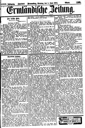 Ermländische Zeitung vom 05.06.1904