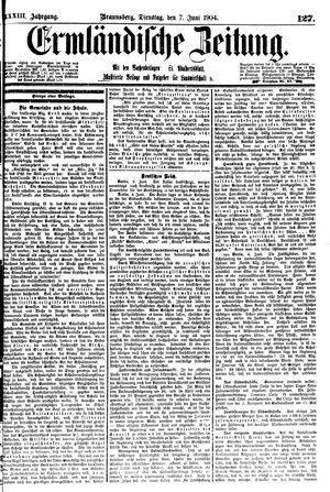 Ermländische Zeitung vom 07.06.1904
