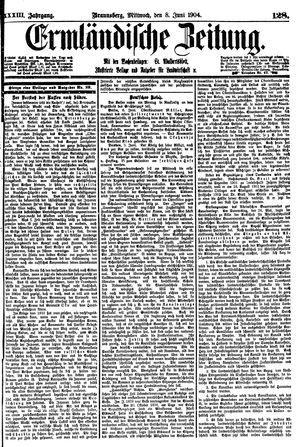 Ermländische Zeitung on Jun 8, 1904