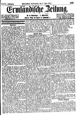 Ermländische Zeitung vom 09.06.1904