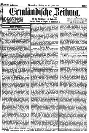 Ermländische Zeitung vom 10.06.1904
