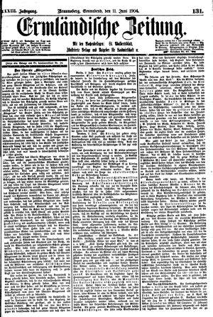 Ermländische Zeitung vom 11.06.1904