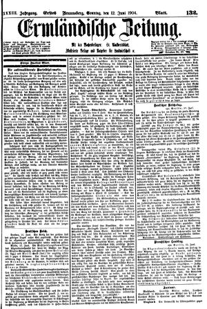 Ermländische Zeitung vom 12.06.1904