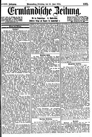 Ermländische Zeitung vom 14.06.1904