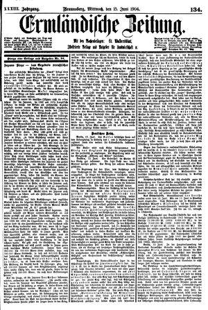 Ermländische Zeitung on Jun 15, 1904
