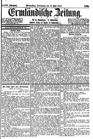 Ermländische Zeitung vom 16.06.1904