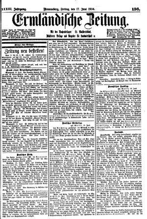 Ermländische Zeitung vom 17.06.1904