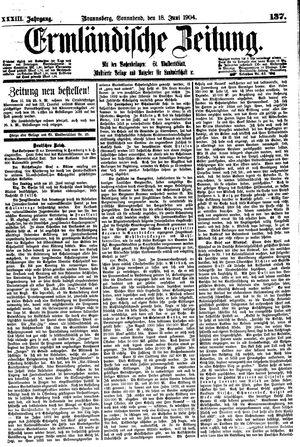 Ermländische Zeitung vom 18.06.1904