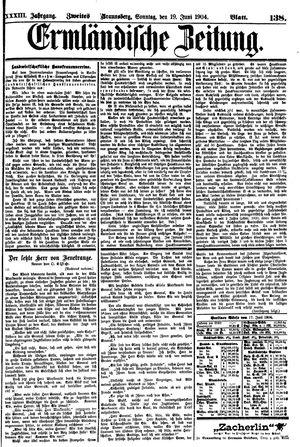 Ermländische Zeitung vom 19.06.1904