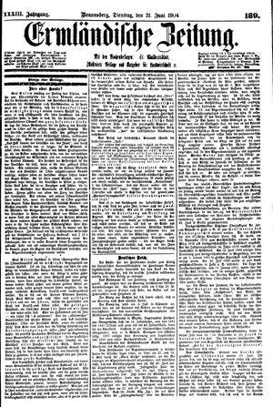 Ermländische Zeitung vom 21.06.1904