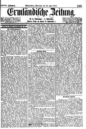 Ermländische Zeitung vom 22.06.1904