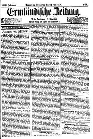 Ermländische Zeitung vom 23.06.1904
