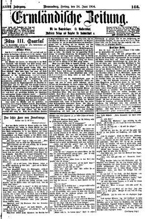 Ermländische Zeitung vom 24.06.1904