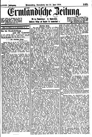 Ermländische Zeitung vom 25.06.1904