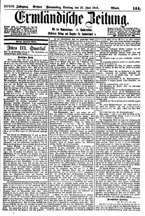 Ermländische Zeitung vom 26.06.1904