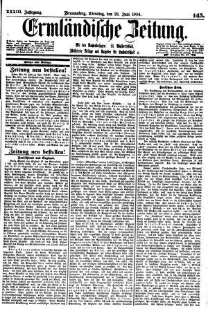 Ermländische Zeitung vom 28.06.1904