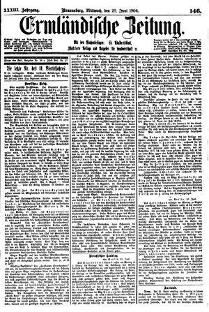 Ermländische Zeitung on Jun 29, 1904