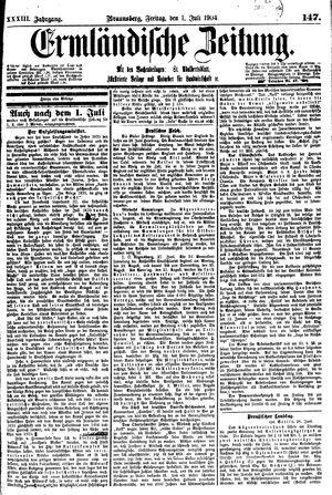 Ermländische Zeitung on Jul 1, 1904