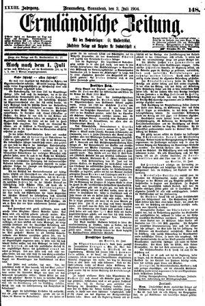 Ermländische Zeitung vom 02.07.1904