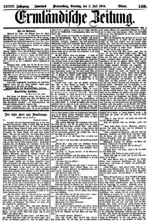 Ermländische Zeitung vom 03.07.1904