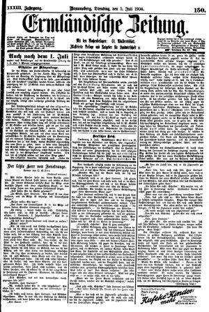 Ermländische Zeitung vom 05.07.1904