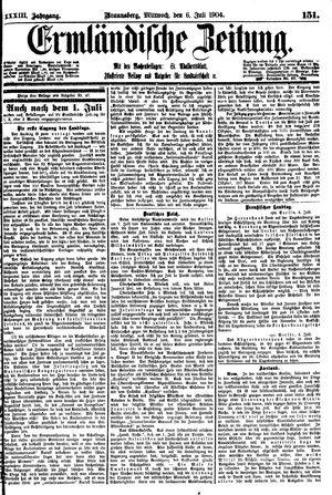 Ermländische Zeitung vom 06.07.1904