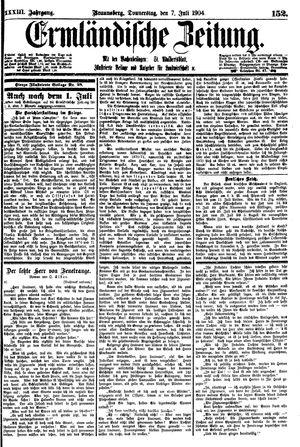 Ermländische Zeitung vom 07.07.1904