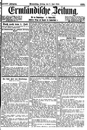 Ermländische Zeitung vom 08.07.1904